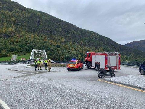 ULYKKESSTADEN: Ulykka skjedde på fv. 55, nær Loftesnesbrui.