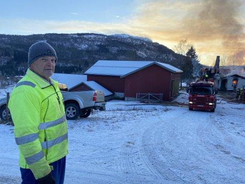 VARSLA: Sverre Bruheim var ein av dei første som såg og varsla om brannen.