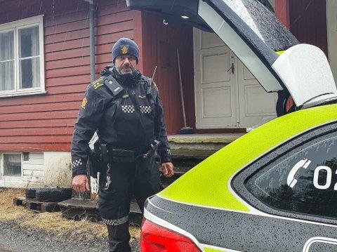KONTROLL: Inge Værøy i UP tok 3 fartssyndarar på E39 forbi Eikås.