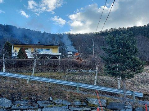 BRANN: For to veker sidan brann dette huset. No brenn det igjen.