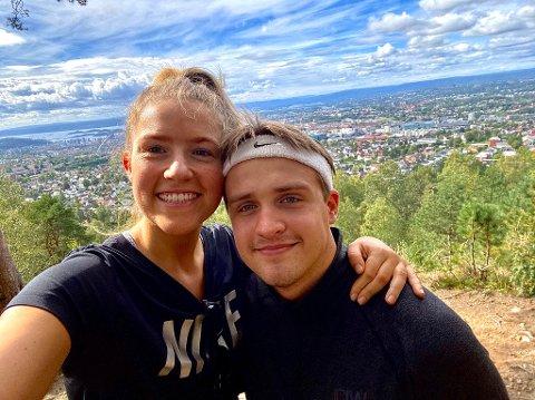 BLIR I OSLO: Sunniva Vee og Henrik Thorsnes Lefdal skulle helst ha reist heim til Sogn i påska, men blir verande i Oslo.