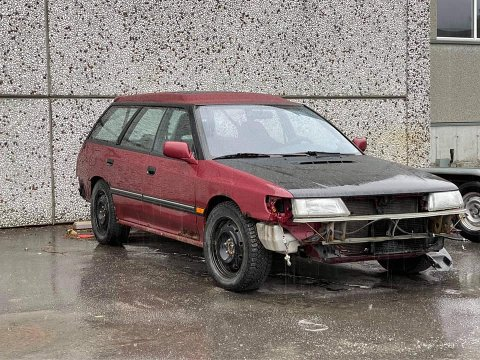 STOLEN: Denne bilen fekk ikkje stå i fred og blei stolen nyleg.