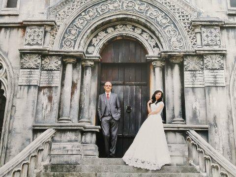 FEM ÅR I KJÆRLEIK: Åge Kirketeig og Kim Phung gifte seg i 2016.