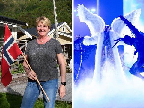 "KLARE FOR FINALEN: Andreas ""Tix"" Haukeland (28) er klar for finalen i Eurovision Song Contest. Det er tante Ruth (56) i Lånefjorden òg."