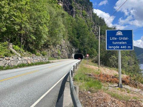 VENTING: Om du skal køyre E39 Litle-Urdaltunnelen i dag, må du belage deg på litt venting.