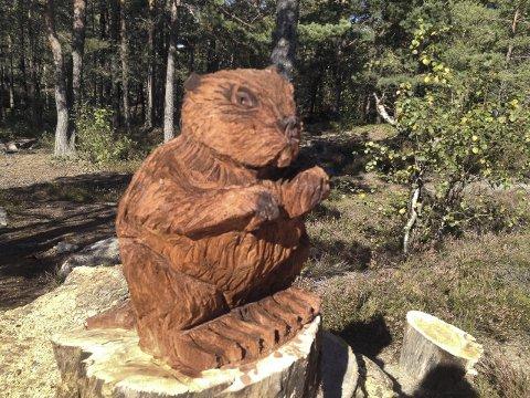 Titt tei: Det er totalt et titall dyr som skal gjøre det spennende for barn å gå i skogen fremover.