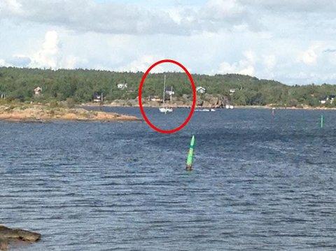 Etterlyst: Føreren av denne seilbåten forsvant fra stedet etter kollisjonen med strømnettet på Hvaler. Nå er føreren funnet og blir krevd for erstatning.                        Foto: privat