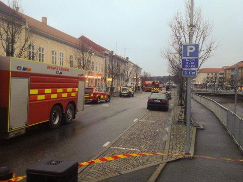 Natt til 1. januar brøt det ut brann i sentrum av Strömstad.
