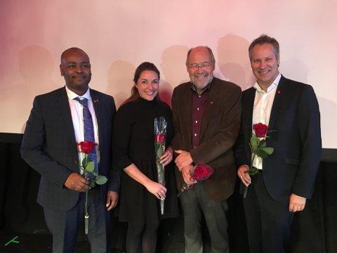 Fire fra Fredrikstad: Mohamed Warsame, Siri Martinsen, Svein Roald Hansen og Jon-Ivar Nygård står på stortingslisten til Østfold Ap.