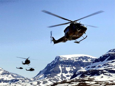 Flyttes til Rygge, trolig i 2019: Planene om å flytte Bell-helikoptre fra Bardufoss til Rygge vekker sterke reaksjoner i Troms. (Arkivfoto: Luftforsvaret)