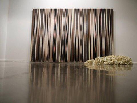 Spesielt: Trine Mauritz' bruk av struktur og farger gir en egen opplevelse av striper og  dynamikk.