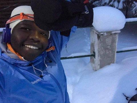 BRRRRR: Med over 30 minus utendørs er Grace Bullen glad for at det er høyt aktivitetsnivå inne. Foto. Privat