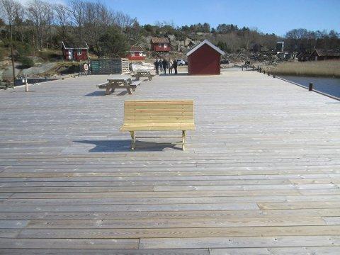 Gratis båtplass. Hvaler kommune gir seg, en hytteeier får nå gratis båtplass på Hvalers største brygge.