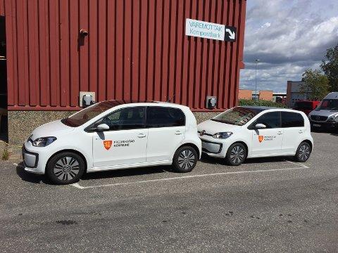 Ny hverdag. Kommunens biler blir nå utstyrt med elektronsike kjørebøker.