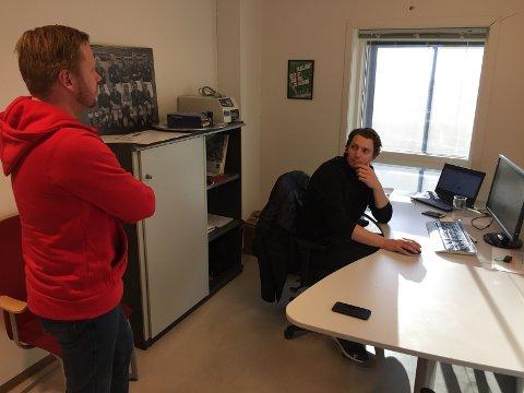 STOR JOBB: Styreleder Jostein Lunde og daglig leder Joacim Heier har nok i gjøre de nærmeste dagene.