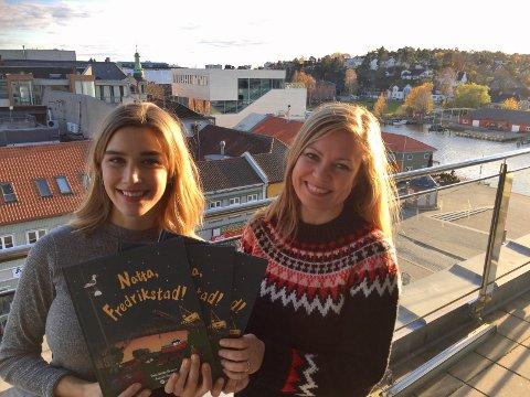NATTA FREDRIKSTAD: Forfatter Unni Anita Skauen (35) og illustratør Andrea Rønsen (27) har laget et nattabok for byens yngste innbyggere.