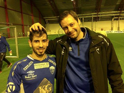Mohammed Ali og Markus Ringberg fra Gresvik er klare for åttendelsfinale mot Borgar fredag kveld.