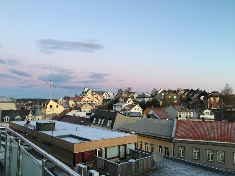 Må vente.Foreløpig er det ingen ting som tyder på at Fredrikstad skal få  adventssnø.