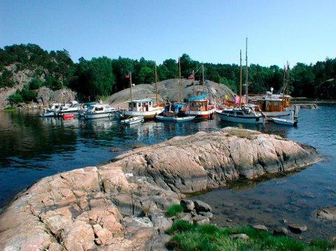 Nordre Sandøy har mange attraktive plasser for båtfolket  i sommermånedene.