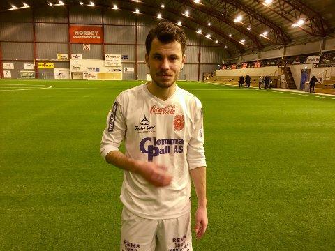 TILBAKE: Liridon Selmani er tilbake i Østsiden og scoret 1-0-målet mot Rakkestad onsdag kveld. (Foto: Henrik Myhrvold Simensen)