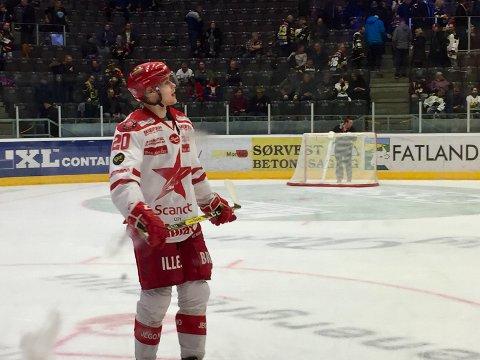 DOBBEL: Phillip Rondahl scoret to gang for Stjernen i Dnb Arena onsdag. (foto: Henrik Myhrvold Simensen)