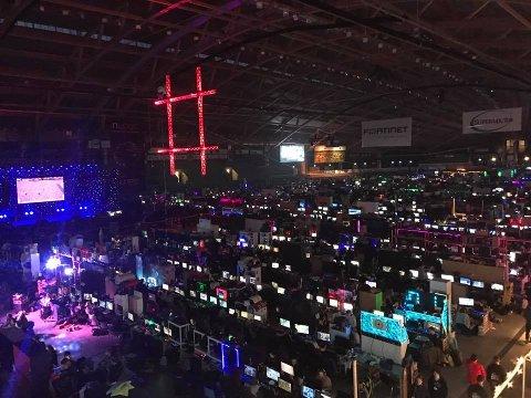 Slik så det ut da 7000 gamere samlet seg.