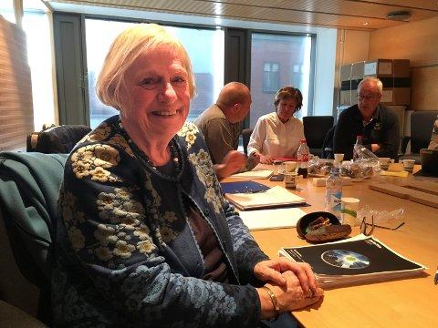 SISTE MØTE: Ingrid Willoch ledet sitt siste politiske møte i Fredrikstad tidligere i år.