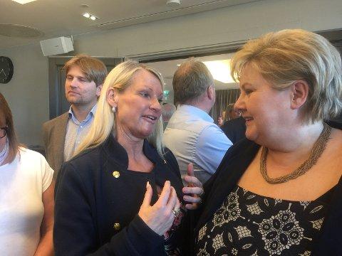 Her snakker jeg varmt om Rv110 med vår statsminister sist mandag.