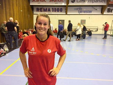 TILBAKE: Martine Moen har allerede fått med seg to rekruttkamper. Bakspilleren vil snart være aktuell for et comeback på A-laget.