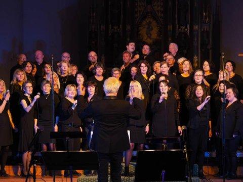 Ungt kor: Fredrikstad Community Gospel Choir har eksistert siden høsten 2014.