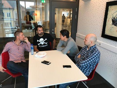 Christian Brevik, Kristian Bolstad, Joakim Simensen og Erik A. Pedersen er særdeles lite imponert over hva FFK leverer om dagen.