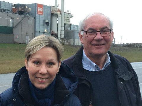 Nasjonalt senter rykker nærmere: Reija Santala, nestleder i Gjenvinning Østfold og prosjektleder Tor Prøitz jobber med forprosjektet for et nytt senter på Øra for sirkulær økonomi. (Arkivfoto: Privat)