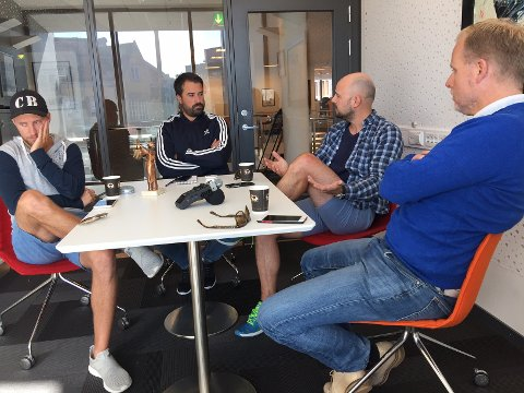 Alvorstynget: Christian Brevik, Kristian Bolstad, Erik A. Pedersen og Stian Enghaug forsøker å finne svarene på hva som er feil i FFK.