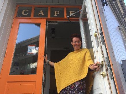 Vil gi mer til barnefamilier: Stortingsrepresentant Line Henriette Hjemdal (KrF) er opptatt av å få familier ut av fattigdom. Bildet er tatt ved Café Britannia, som drives av Kirkens Bymisjon. (Foto: Øivind Lågbu)
