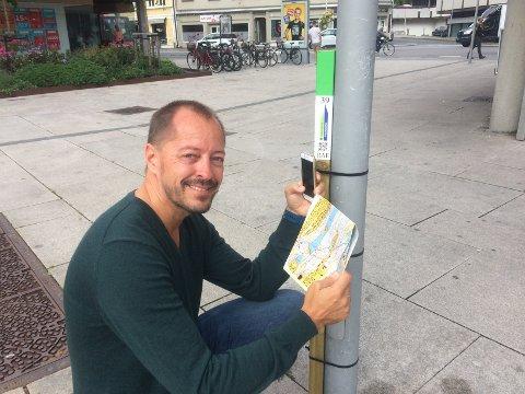 Gøy. FB-redaktør René Svendsen finner opplegget for Stolpejakten tilpasset alle slags brukere.