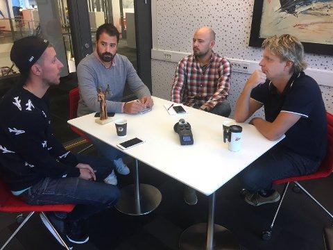 Christian Brevik, Kristian Bolstad, Erik A. Pedersen og Vidar Henriksen diskuterte FFK, Stjernen og FBK.