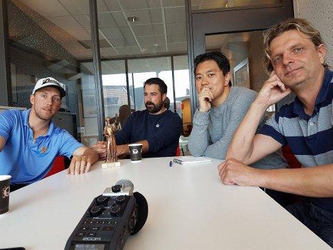 Christian Brevik, Kristian Bolstad, Joakim Simensen og Vidar Henriksen, samt fotballekspert Joacim Jonsson tror FFK går opp med Høgmo som trener.
