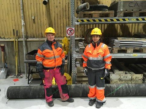 Studentene Monica Honningsvåg, Paria Maghsoudi og Elisabeth Langsholdt (ikke tilstede ved fotografering) jobbet våren 2017 med 5S/Lean sammen med de ansatte på Syklus AS.