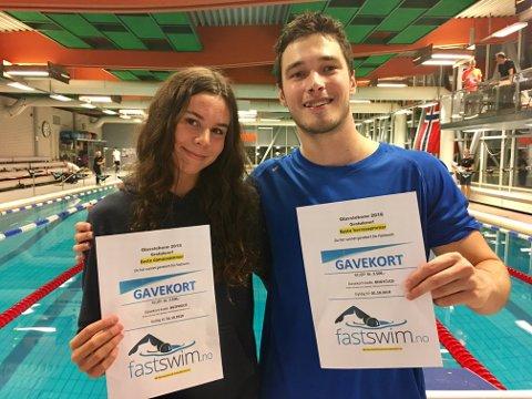Best: Mathilde Sofie Hammer og Piotr jr. Ludwiczak stakk av med bestemannspremiene i helgen. (foto: Privat)