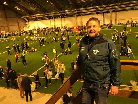 TILFREDS: Lervik IF og Roger Håland var tilfreds med gjennomnføringen av årets turnering i Østfoldhallen.