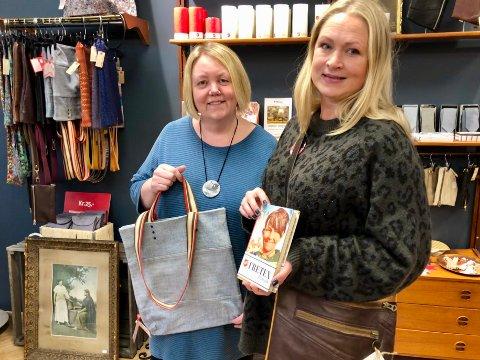 BRUKT TIL JUL: Anita Lunde og Maria Ruud hos Fretex forteller at det er blitt mer akseptert å gi bort brukte ting i julegave.