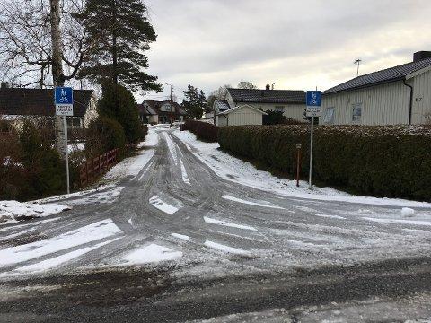 Stridens kjerne:  Gang- og sykkelveien ved Bregneveien i Rolvsøy. Beboerne vil åpne den for biltrafikk fordi de vil unngå den bratte Bregneveien når det er glatt. Virksomhetsleder for vei i Fredrikstad kommune er bekymret over at noen tar seg til rette og kjører bil på gangveien.