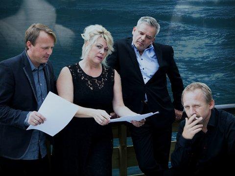 Ny kvartett: Eivind Kløverud, Monica Grodatter Hjelle, Ingar Guttormsen og Terje Norum skal spille blått for kvinnene.