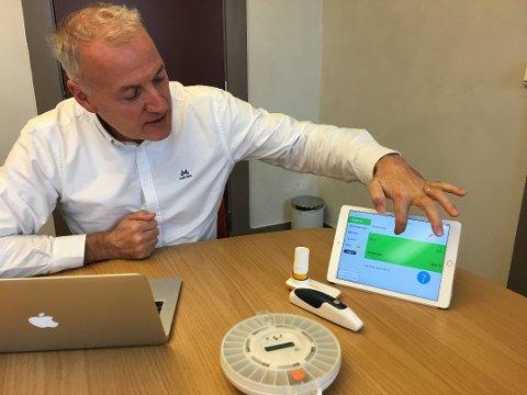Grønne tall: Administrerende direktør i Dignio, Lars Dahle, er storfornøyd med å ha levert et plussregnskap for første gang. – Nå kan vi senke skuldrene, sier han.