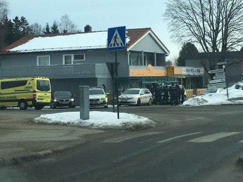Store politistyrker rykket ut til Karlshus i Råde mandag formiddag.