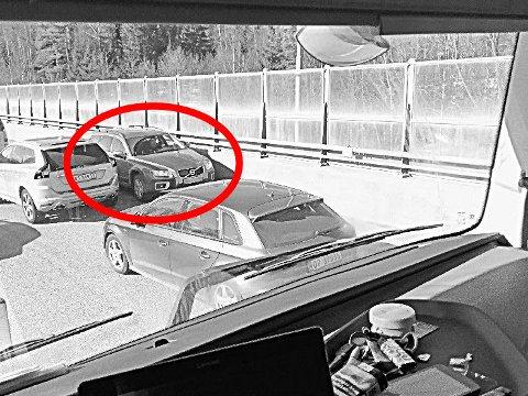 Det var tirsdag formiddag som bilisten kom kjørende mot trafikken ved Svinesundbrua.