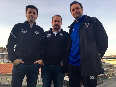 TOPPLAG: Dino Mulac (Skogstrand), Mads Vallestrand (Greåker) og Markus Ringberg (Gressvik) leder tre av lagene som er ventet å kjempe i toppen av 6. divisjon.