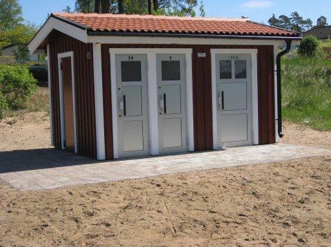 OMTRENT SLIK BLIR DET: Det er et bygg av denne typen fra Grålum-firmaet Danfo som vil bli satt opp på badeplassen ved Enhuskilen i mai.