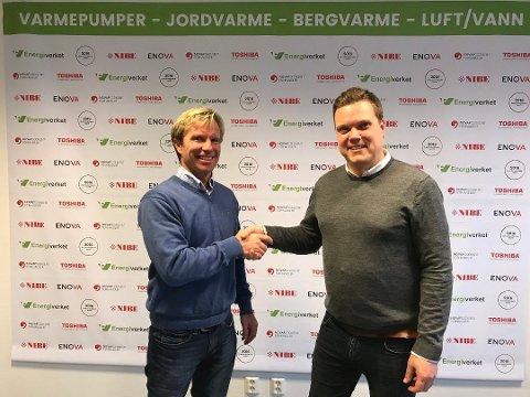 Gjør det bra: Adm. dir. Richard Granskogli (til venstre) etablerte Energiverket i 2010. I februar i år ble Glenn Pettersen ansatt som daglig leder av Energiverket avdeling Østfold.