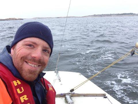 Optimistisk: Christian Ekjord Foss var full av iver og entusiasme da han kjøpte Ynglingen, ett år før hans barn nummer tre kom til verden. Nå er det tre år siden sist båten var på sjøen.